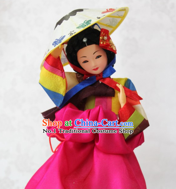 Korean Traditional Handmade Silk Figurine