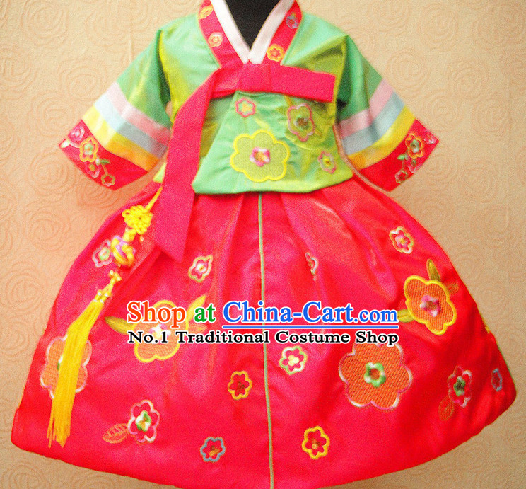 Korean Traditional Dresses Dance Costumes for Girls