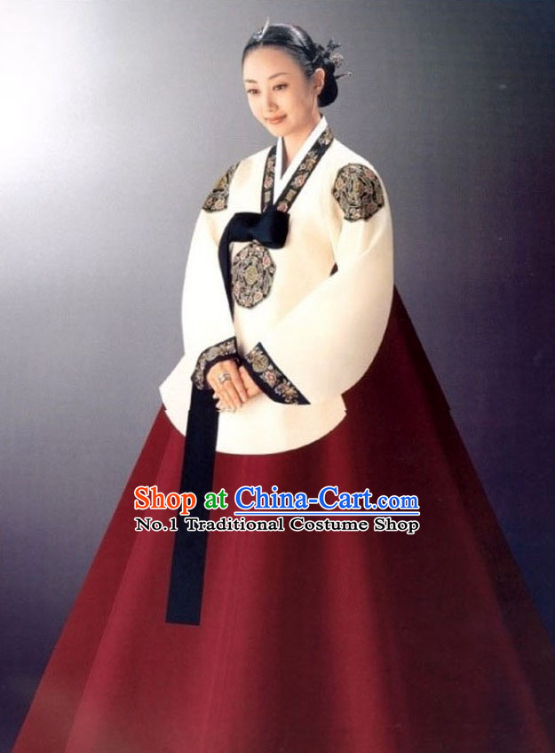 National Costume of Korea Korean Traditional Dress Dangui Hanbok Panier Korean Fashion Shopping online