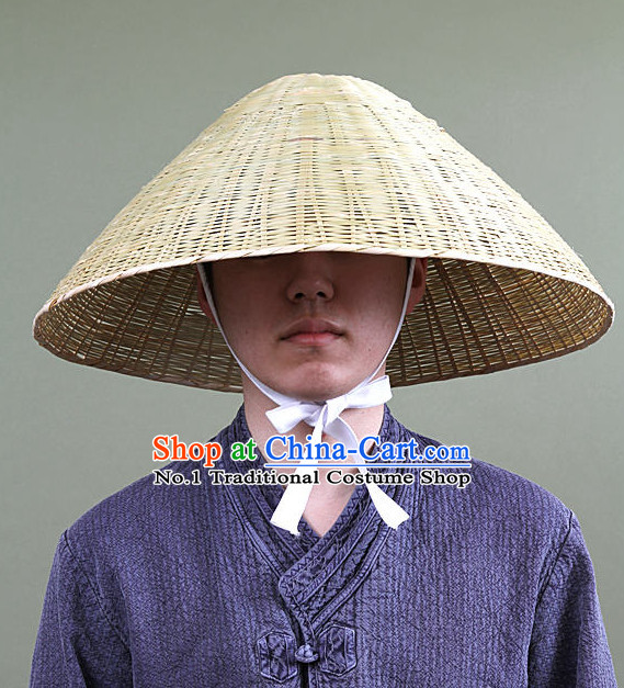 Traditional Korean Ancient Bamboo Hat for Men