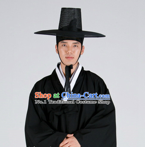 9aa2cf3300 Korean Ancient Scholar Long Robe Costumes And Hat For Men Sc 1 St China-Cart