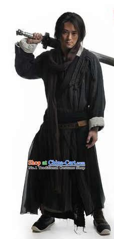 Chinese Traditional Swordsmen Costumes Complete Set