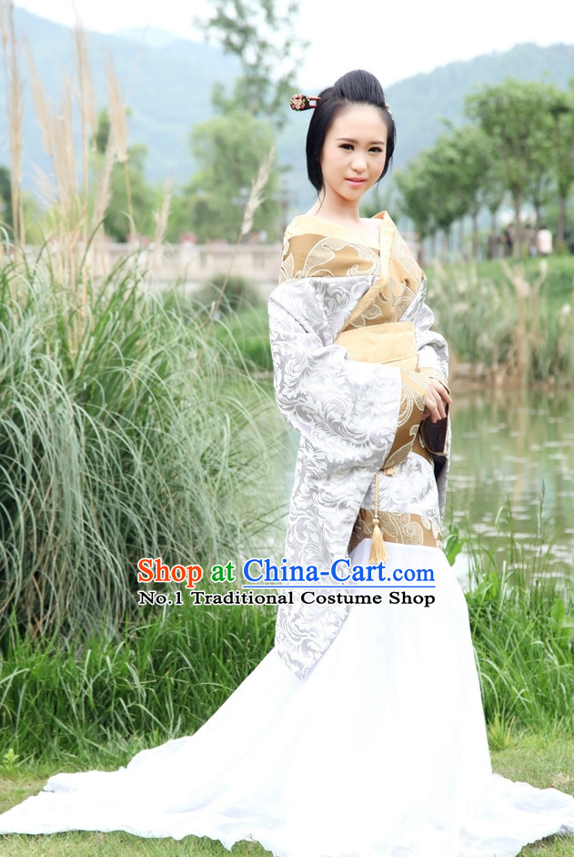Chinese Traditional Female Hanfu Costumes Complete Set