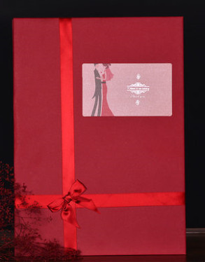 Beautiful Wedding Guest Signatures Cloth Book