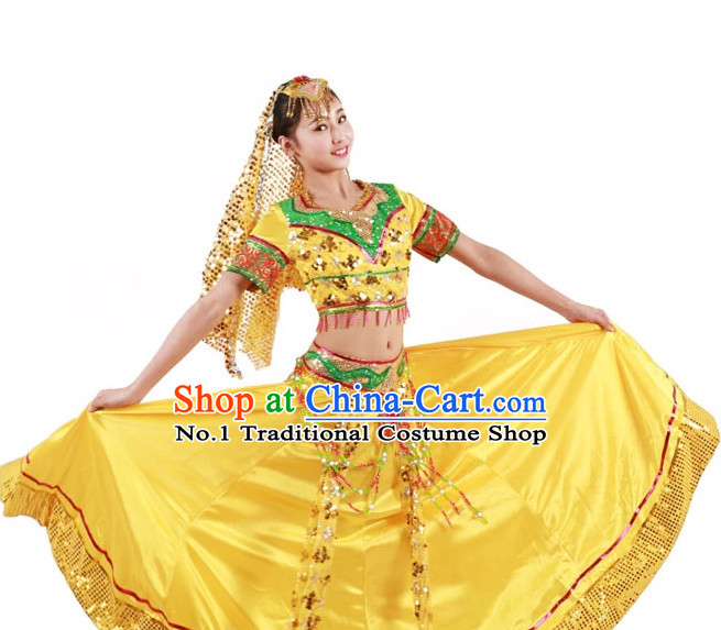 Custom Made Chinese Indian Group Dance Costumes for Women