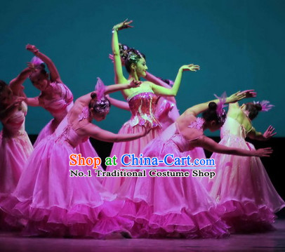 Custom Made Chinese Stage Performance Dance Costumes for Women