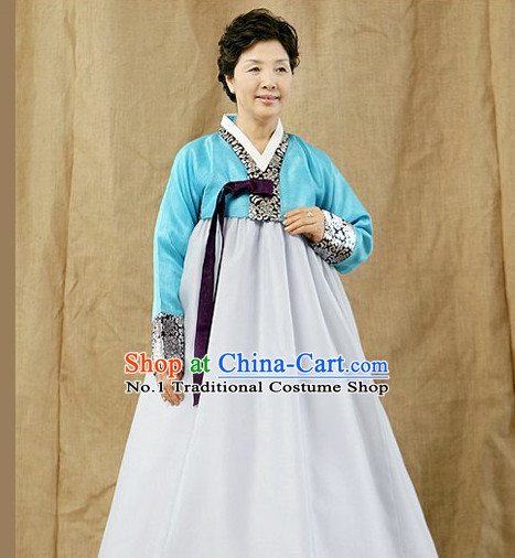 Traditional Korean Grandmother Hanbok Clothes Complete Set