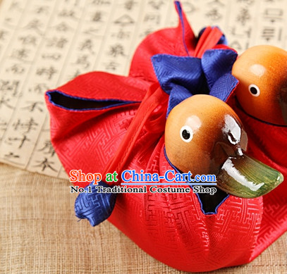 Korean Traditional Wedding Gifts Mandarin Ducks Pair Arts