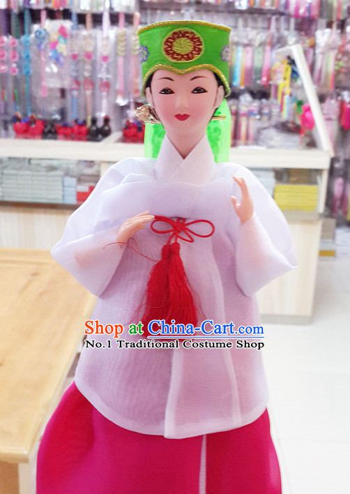 Korean Traditional Decorations Silk Figurine Doll