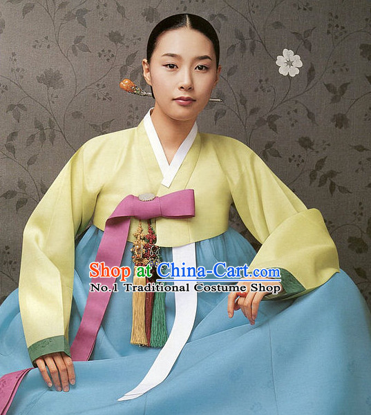Top Korean Traditional Hanbok National Costumes Complete Set for Girls