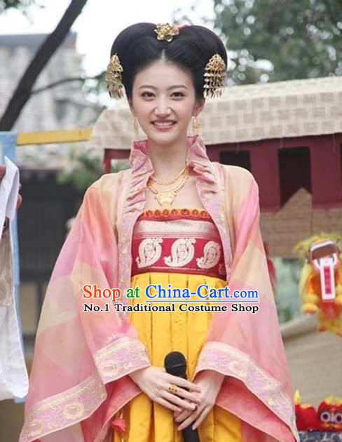Asian Fashion Chinese Princess Costumes and Hair Accessories Complete Set for Women