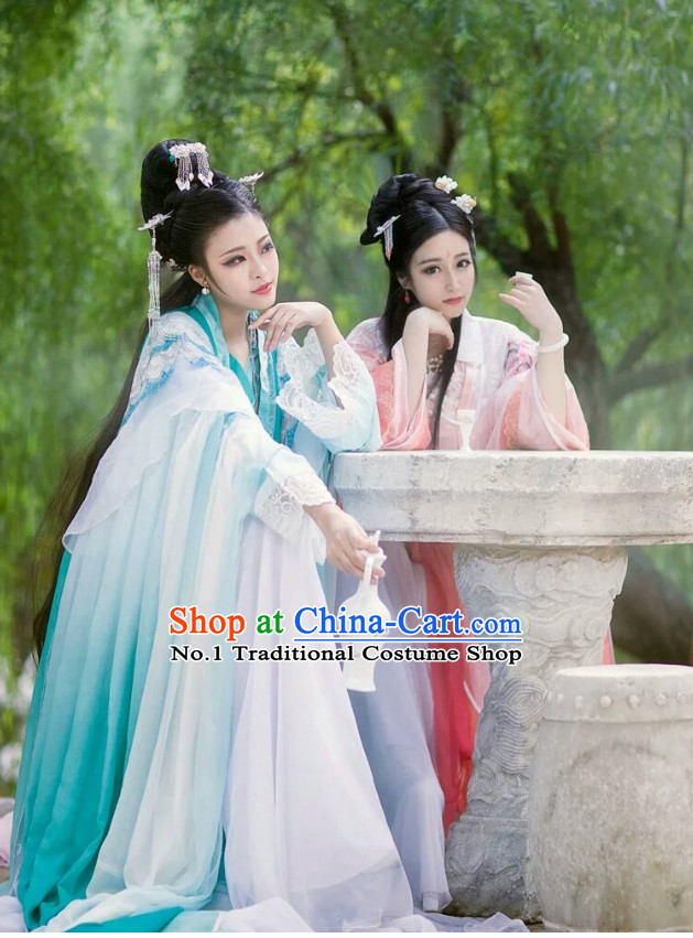 Chinese Costumes Traditional Clothing China Shop Blue Princess Cosplay Halloween Costumes