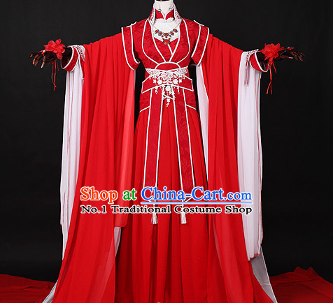 Chinese Red Princess Hanfu Cosplay Halloween Costumes Carnival Costumes for Men