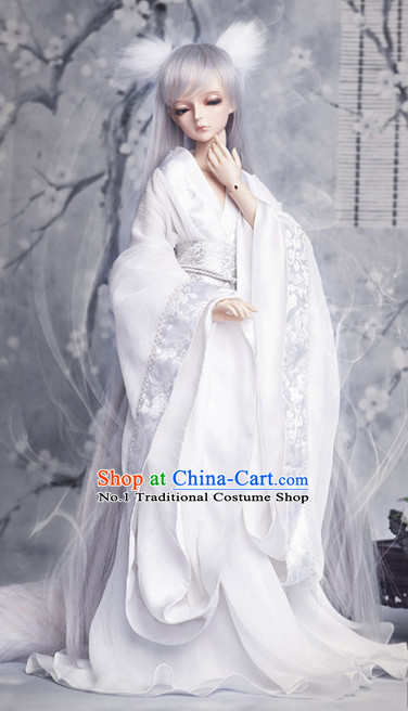 Chinese Costumes Asia fashion China Civilization White Traditional Hanfu Clothing