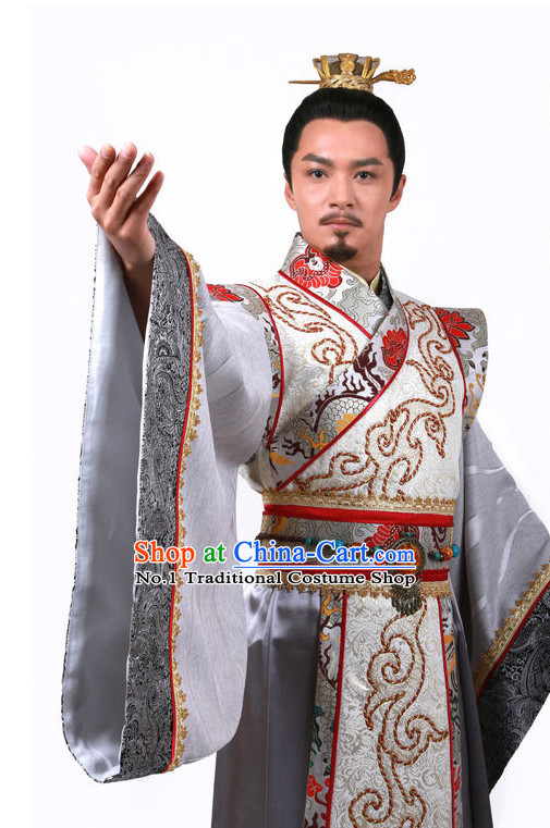 Chinese Emperor Costume Asia fashion China Civilization and Crown Complete Set