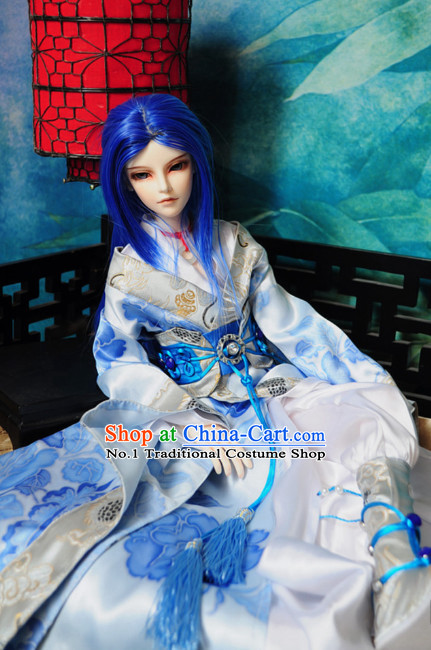Asian Fashion Chinese Imperial Prince Costumes Hanfu Dresses Complete Set for Men