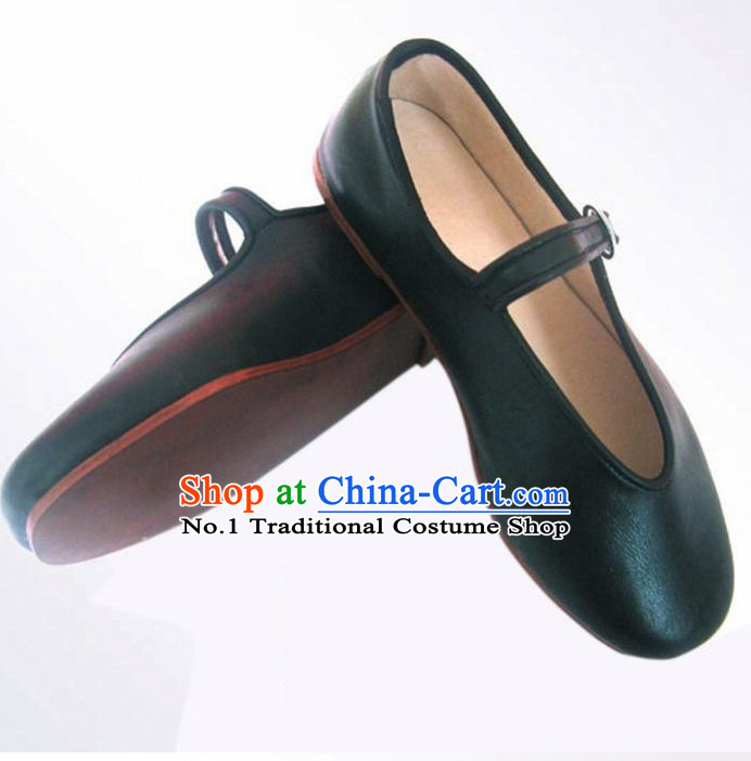 Handmade Chinese Traditional Leather Shoes Footwear