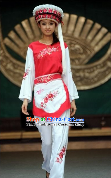 Oriental Clothing Chinese Bai Traditional Ethnic Clothing in China