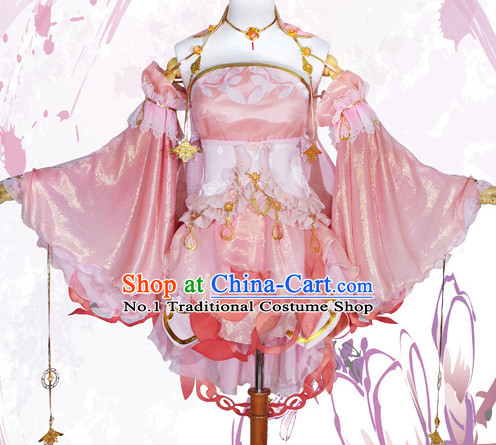 Asian Chinese Fashion Women Lovely Halloween Costumes Cosplay Costumes Plus Size Cosplay Costumes