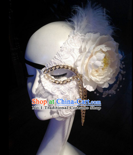 Custom Made Designer Face Mask Hair Fascinators Hair Slides Headpieces Hair Ornaments