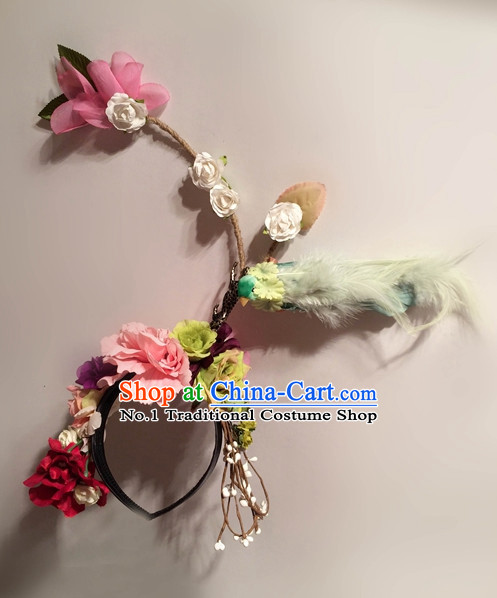 Flower Headpieces Hair Fascinators Hair Slides Headpieces Hair Ornaments