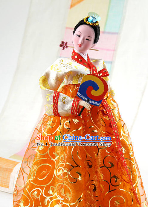 Korean Traditional Handmade Silk Figurine Arts
