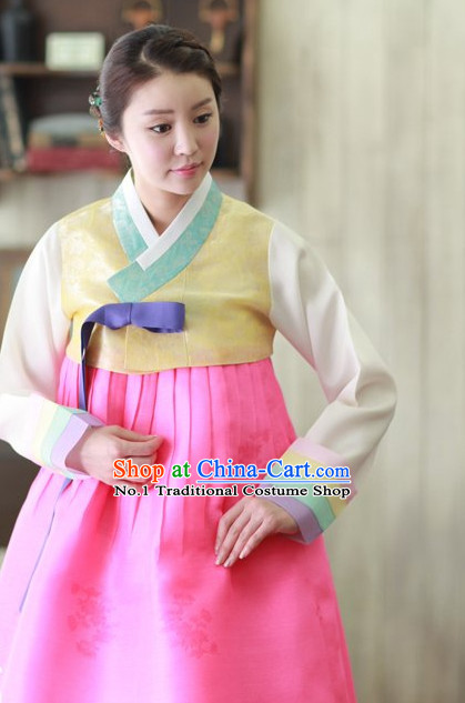 Traditional Korean Traditional Custom Made Hanbok Clothing Complete Set for Women