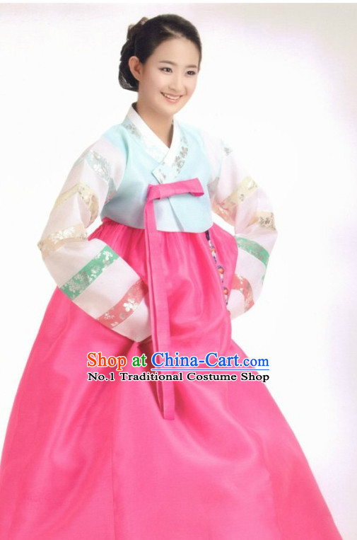 Traditional Korean Custom Made Hanbok Costumes Complete Set for Ladies