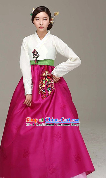 Traditional Korean Mother Custom Made Hanbok Costumes Complete Set for Ladies