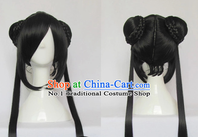 Traditional Chinese Cosplay Long Wig Chinese Ancient Costumes Wig