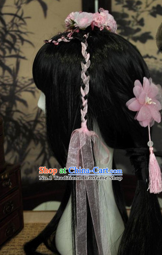 Chinese Classic Princess Wig and Hair Accessories Complete Set