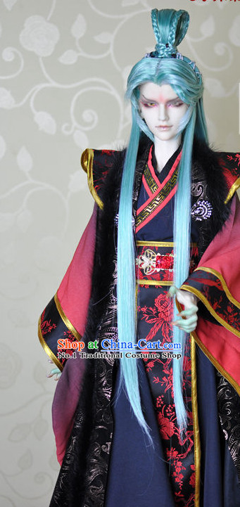 Chinese Traditional Emperor Dresses Complete Set for Men