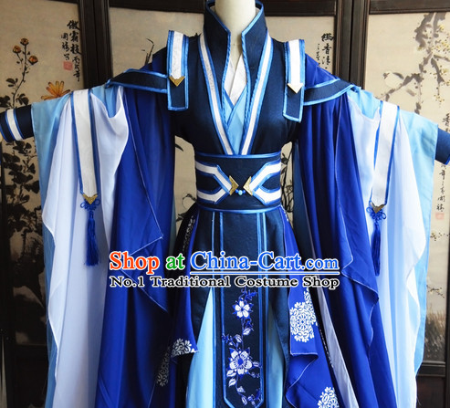 Chinese Traditinoal Swordsman Costumes Complete Set