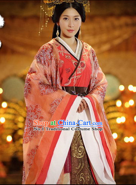 Chinese Ancient Peace Princess Clothing and Hair Jewelry Complete Set