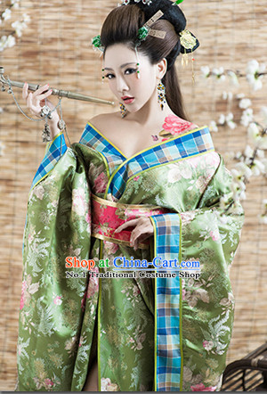 Chinese Ancient Royal Lady Clothing and Hair Jewelry Complete Set