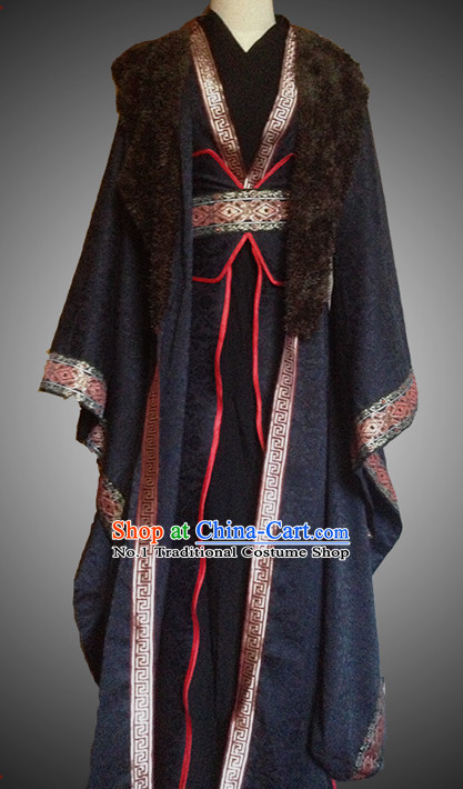 Chinese Black Swordsman Costume Complete Set for Men