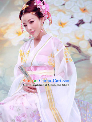 Chinese Ancient Princess Costume and Hair Jewelry Complete Set