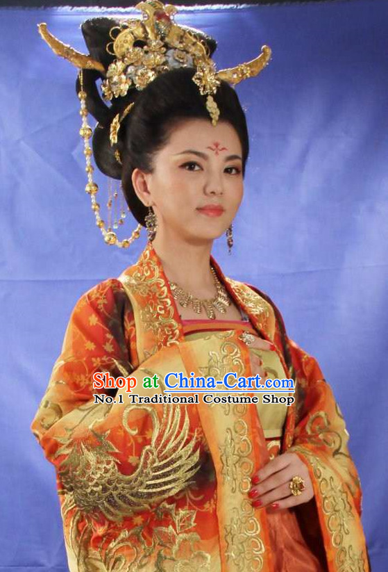Chinese Tang Dynasty Female Emperor Wu Zetian Hair Accessories Set