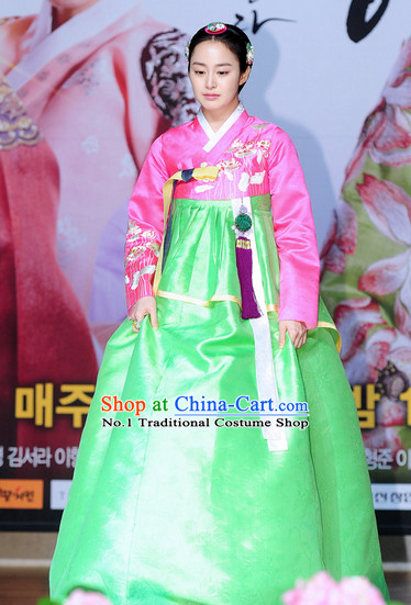 Korean Princess Costumes Classical Hanbok Clothes Complete Set for Ladies