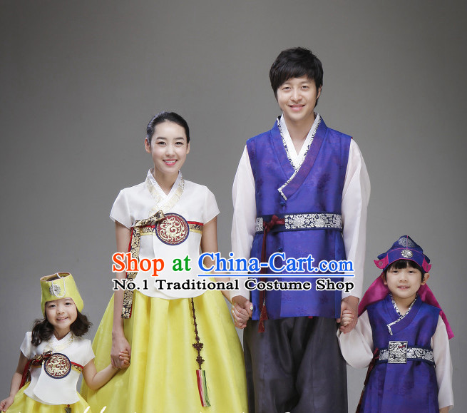 Korean Family National Costumes Traditional Costumes online Shopping
