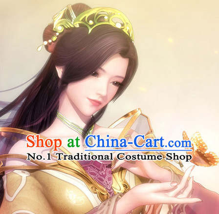 Custom Made Asian Chinese Ancient Fairy Long Black Wigs