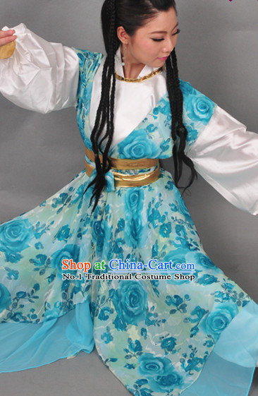 Chinese Traditional National Costumes Swordsman Costume Complete Set