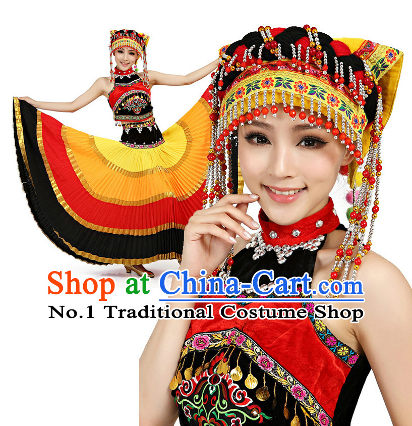 Chinese Traditional Yi Zu Dancing Costumes Discount Dance Dostumes Discount Dance Supply for Women