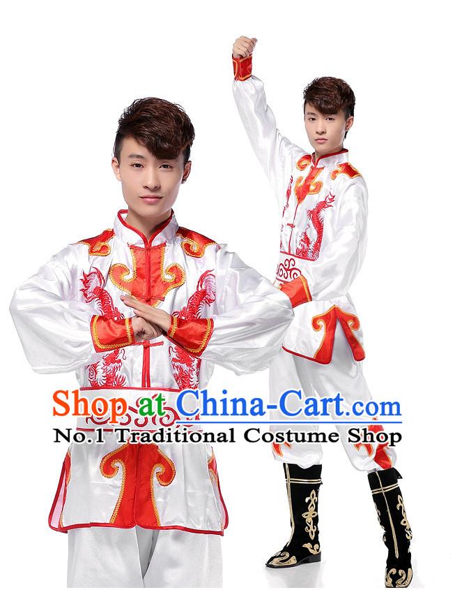 Asian Chinese Han Dancing Costume Dance Attire Complete Set