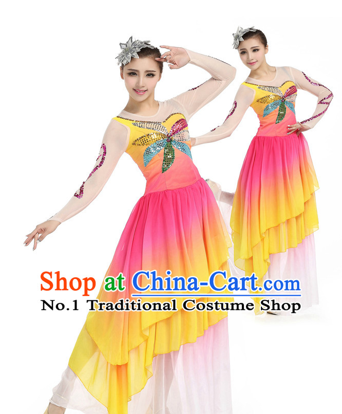 Chinese Classic Dancing Costumes Apparel Dance Stores Dance Gear Dance Attire and Hair Accessories