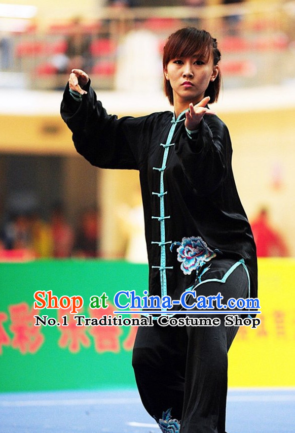 Top Tai Chi Yoga Clothing Yoga Wear Yang Tai Chi Quan Kung Fu Contest Uniforms for Women