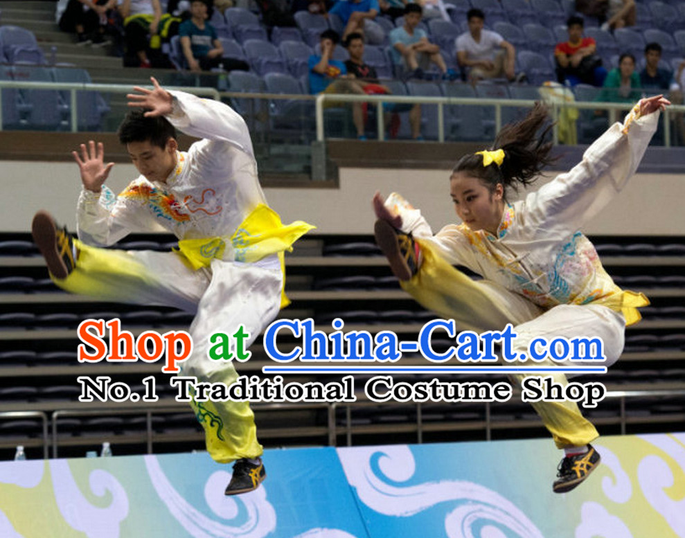 Top Tai Chi Qi Gong Yoga Clothing Yoga Wear Yang Tai Chi Quan Kung Fu Pants and Blouse Uniforms for Men or Women