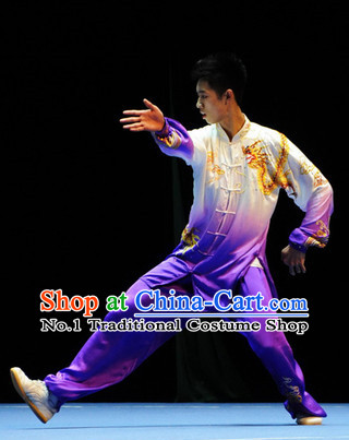 Top Dragon Embroidery Tai Chi Yoga Clothing Yoga Wear Yang Tai Chi Quan Kung Fu Contest Uniforms for Men
