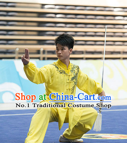 Top Embroidered Tai Chi Sword Championship Costumes Taijiquan Costume Aikido Chikung Tichi Swords Uniforms Quigong Uniform Thaichi Martial Arts Qi Gong Combat Clothing Competition Uniforms
