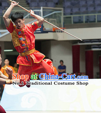 Top Kung Fu Stick Competition Uniforms Kungfu Training Suit Kung Fu Clothing Kung Fu Movies Costumes Wing Chun Costume Shaolin Martial Arts Clothes for Men